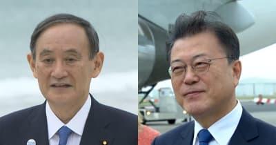 G7会場で日韓首脳があいさつ 日米首脳はオリパラで協議