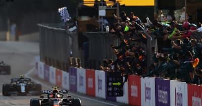 【F1第6戦無線レビュー(2)】「君たちの勝利だ」移籍後初優勝で歓喜に沸いたペレスとレッドブル。僚友への配慮も