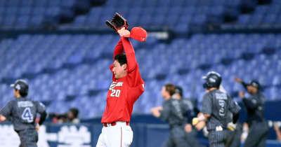 広島・栗林 連続無失点22試合でストップ 九回3四球から痛恨サヨナラ