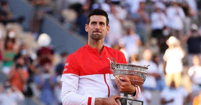 ジョコビッチが逆転V!5年ぶり2度目の優勝『ダブルグランドスラム』の偉業達成【全仏テニス】