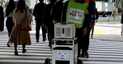 信号機と連携する自動走行ロボット、屋外配送試験に成功…ソフトバンクと佐川急便