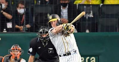 阪神V吉兆 独走の03年以来シーズン2度目7連勝 サンズが巨人粉砕満塁弾