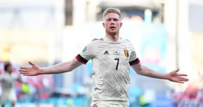 「左顔面は感覚麻痺」 顔面骨折のデブライネ、EUROで超ゴール後に告白