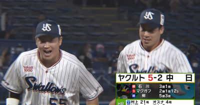 【ヤクルト】村上宗隆が21号2ラン!山田は守備で華麗なプレーが飛び出す