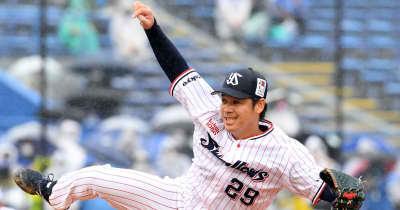 ヤクルト・小川、4回7安打4失点「粘りきれずに悔しい」大島に2度の逆転打浴びる