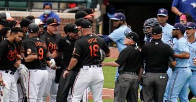 【MLB】151キロ死球を当てた投手が逆ギレ? 一触即発の乱闘騒動に米疑問「なぜ打者に向かう」