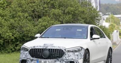 V8になっても800馬力!メルセデスAMGの電動スーパーセダン『S63e』最新プロトタイプ