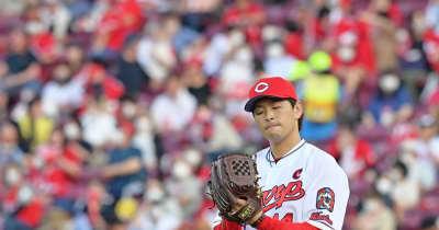 広島・大瀬良が6回6失点 4月9日以来、遠い3勝目