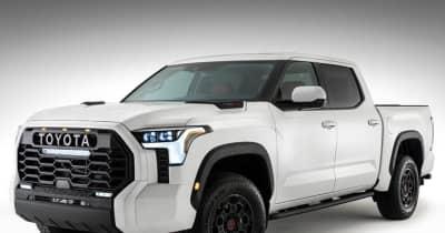 """トヨタのフルサイズピックアップ「タンドラ」が間もなくモデルチェンジ  """"TOYOTA""""ロゴと巨大過ぎるグリルでフォード・GMに挑む!"""