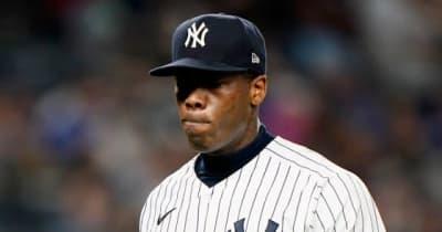 """【MLB】""""人類最速""""チャップマンが大激怒! 監督の采配&逆転許しベンチで大暴れ"""