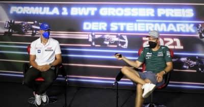 F1第8戦木曜会見:「セブの存在はとても心強いよ」先輩を質問攻めにしたシューマッハーと、照れ笑いのベッテル
