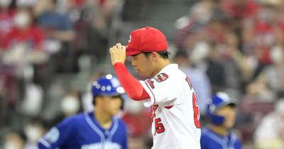 広島・玉村昇悟が5回5安打3失点でKO 投手の柳に同点打浴びる