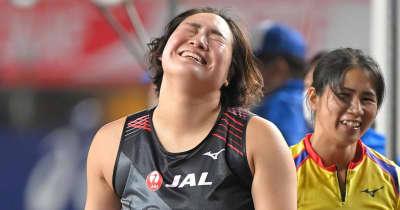 北口榛花が2年ぶりV 今大会での五輪代表内定第1号に 女子やり投げ