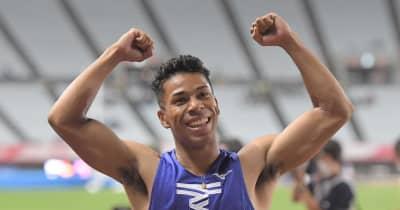 有力選手に割り込み2位 デーデーブルーノ「すごくうれしい」 男子100m