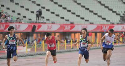 小池祐貴は4位 3位・山県とは1000分の1秒差「思い描いたレースではなかった」