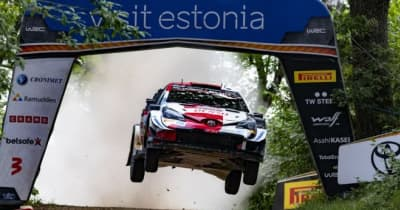 勝田貴元とタナクがリタイア。首位争いは2日目もロバンペラがリード/WRCエストニア