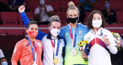 渡名喜風南「やっぱり一番輝いている金メダルがほしかった」表彰式後も悔しさにじむ