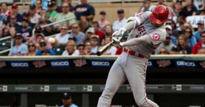 【MLB】大谷翔平、元同僚シモンズの好守に安打を阻まれる 第1打席では183キロの痛烈二塁打