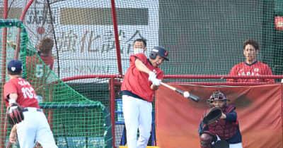 侍ジャパン 柳田が屋外フリー打撃を再開 右脇腹違和感から回復