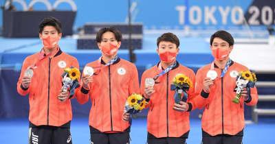 体操日本は涙の銀も「夢の時間を過ごせた」「メダルの色なんか気にせず、と演技した」