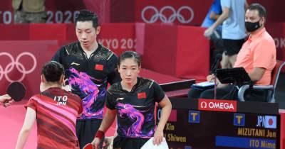 卓球 銀メダルの中国ペアは沈痛「チームに申し訳ない」と謝罪