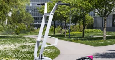 BMWが電動キックボード提案、持ち運びやすさと乗り心地の両立目指す…欧州発表