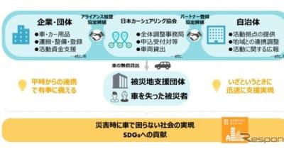 災害時の車両提供、日本ミシュランと日本カーシェア協会が連携
