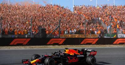 F1レッドブル・ホンダのフェルスタッペン、オランダGPで優勝
