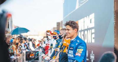 ノリス10位「複雑な気分だが、入賞圏内に入れたことに満足したい」マクラーレン/F1第13戦決勝