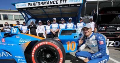 初ポール獲得でパロウがポイントリーダー奪還へ好発進。琢磨はエンジン交換でグリッド降格/インディカー第14戦ポートランド予選