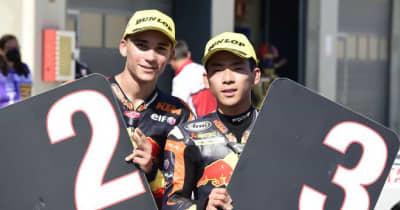 Moto3:佐々木歩夢「諦めなかったら表彰台に上がれた。長い間この時を待っていた」/MotoGP第13戦アラゴンGP