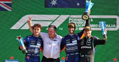 リカルドが移籍後初優勝、マクラーレンW表彰台。フェルスタッペンとハミルトンは接触リタイア【決勝レポート/F1第14戦】
