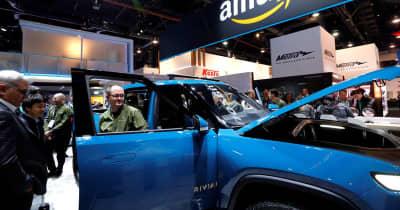 米EVリビアン、ピックアップトラックの生産開始 テスラに先行
