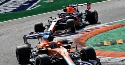 【F1第14戦無線レビュー(1)】「リヤタイヤが滑り始めている」リカルドを抜きあぐねるフェルスタッペン