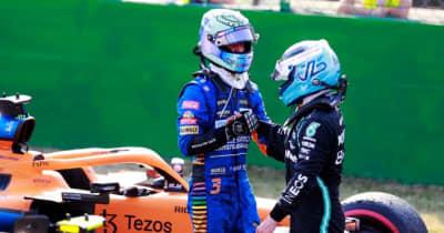【中野信治のF1分析/第14戦】リカルドとボッタスに共通するモンツァでの速さ。チャンピオンを争う2台の接触の見解