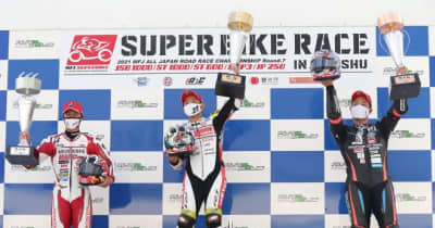 中須賀克行「最終戦まで無事に開催できて感謝。また記録ができてよかった」/全日本ロード第7戦オートポリス JSB1000 レース2会見