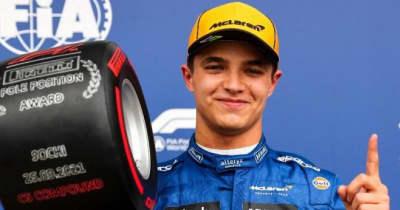 F1初ポールのノリス「今までで一番幸せ。大きなリスクを冒し、それが報われた」マクラーレン/F1第15戦予選