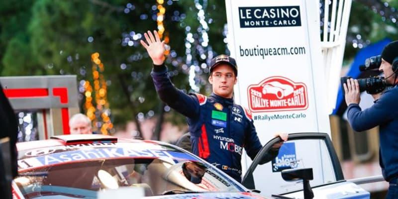 2020年のWRC開幕戦、第1戦モンテカルロ初日はヌービルが首位。トヨタのオジエが総合2番手