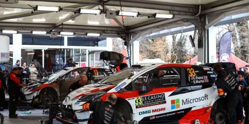 WRC:トヨタ、モンテカルロ3日目に陣営内で首位争い。「我々のドライバーが優勝を争う状況はとてもエキサイティング」