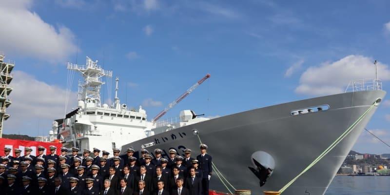 海保最大級 巡視船れいめい引き渡し 三菱重工長崎