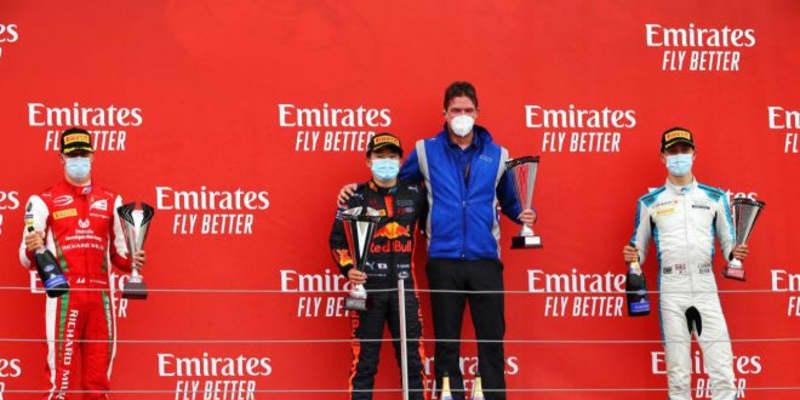 【追記】初優勝の角田裕毅、ランキング6位に浮上【順位結果】FIA-F2第5戦イギリス レース2