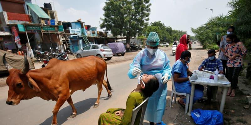 インド、感染者400万人超に 米国、ブラジルに続き3カ国目