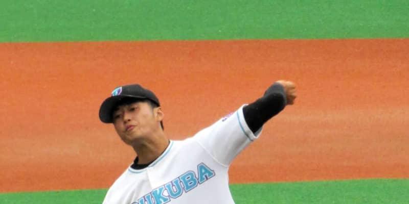 プロ注目の筑波大3年・佐藤隼輔7回1失点 早大・早川を意識「目指してやってきた」