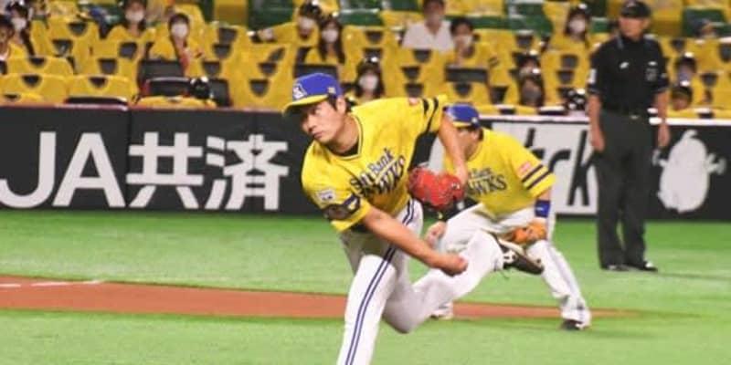 鷹・武田、3回6失点でKO 2連続押し出し含む6安打5四死球の大炎上