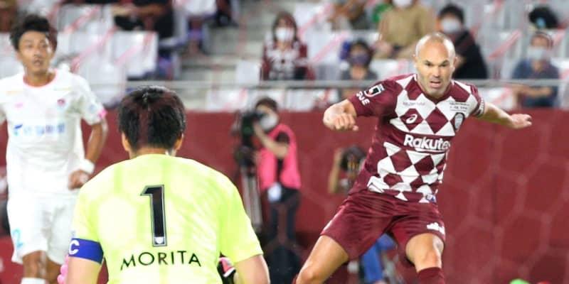 神戸・MFイニエスタが今季初ゴールで勝ち越し 前日に監督退任も存在感