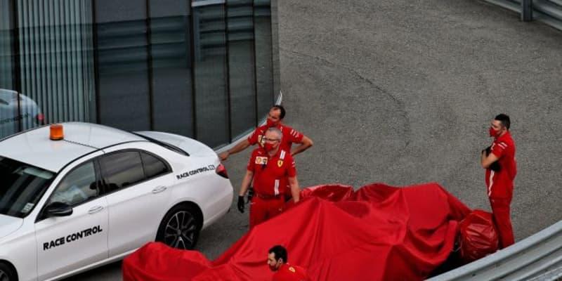 クラッシュしたベッテル「プッシュしすぎてコントロールを失った」フェラーリ【F1第10戦予選】