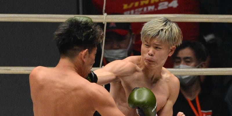 RIZIN・那須川、KO逃すも皇治に圧勝!キックは残りわずか「夢を持って前に」