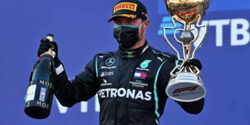 ボッタスが得意のソチで今季2勝目、最速ラップも記録。ホンダPU勢は全4台が入賞【決勝レポート/F1第10戦】