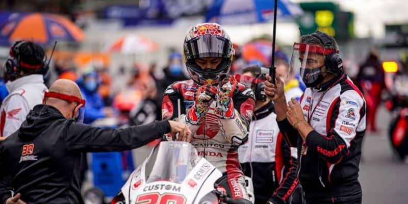 中上「トリッキーなコンディションの中、とてもいい結果になりました」/MotoGP第10戦フランスGP決勝