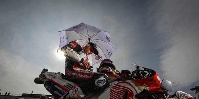 中上貴晶「チームに謝罪したい。スタート直後に小さなミスをしてしまった」/MotoGP第12戦テルエルGP決勝